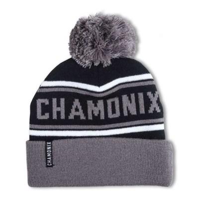 シャモニー Chamonix メンズ ニット 帽子 Pom Beanie Black