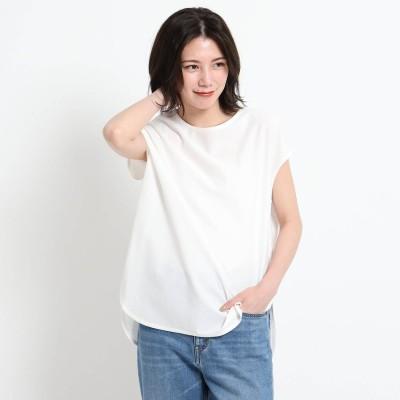 デッサン Dessin 【XS~L・手洗い可能】シャツテールTシャツ (ホワイト)