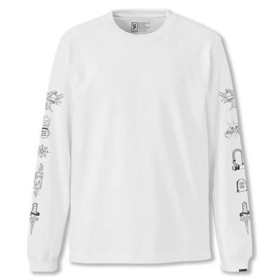 SALE クローム ストリート サイン ロングスリーブ ティー CHROME STREET SIGNS L/S TEE WHITE メンズ Tシャツ ロンT JP119WT
