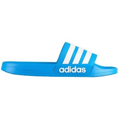 アディダス メンズ サンダル adidas Adilette Shower Slide スリッパ Bright Blue/White