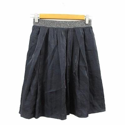 【中古】ノーリーズソフィー NOLLEY'S sophi スカート ギャザー ひざ丈 38 黒 ブラック /AAM39 レディース