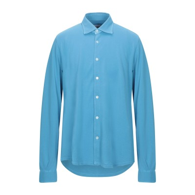 FEDELI シャツ パステルブルー 54 コットン 100% シャツ