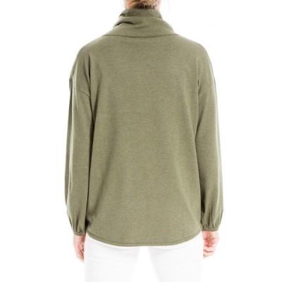 マックスタジオ レディース ニット&セーター アウター Drawstring Cowl Neck Sweater HTHRSAGE