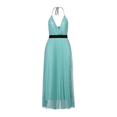 モーテル MOTEL ロングワンピース&ドレス ライトグリーン S ポリエステル 100% / レーヨン / ポリウレタン ロングワンピース&ドレス