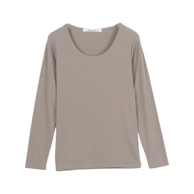 コウベレタス KOBE LETTUCE 【透けにくい】前身二重長袖Tシャツ【Uネック】 [C3655] (モカグレー)
