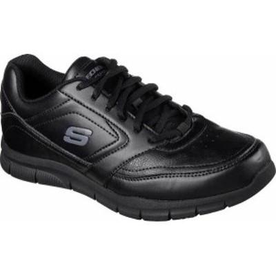スケッチャーズ メンズ スニーカー シューズ Men's Skechers Work Relaxed Fit Nampa Slip Resistant Sneaker Black