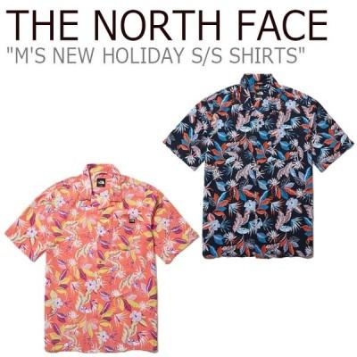 ノースフェイス 半袖シャツ THE NORTH FACE M'S NEW HOLIDAY S/S SHIRTS ニュー ホリデー ショートスリーブ シャツ NAVY CORAL NH8SL02A/B ウェア