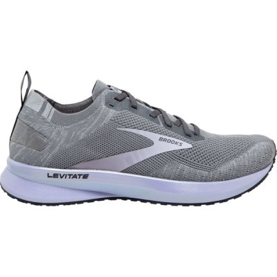 ブルックス Brooks レディース ランニング・ウォーキング シューズ・靴 Levitate 4 Gray/Blackened Pearl/Purple