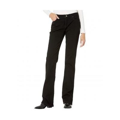 Wrangler ラングラー レディース 女性用 ファッション ジーンズ デニム Q-Baby Mid-Rise Bootcut Jeans - Black