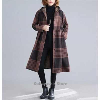 コートレディースアウターフード付きカジュアル秋冬暖かい防寒女性らしいライン洗練された人気デザインオシャレ