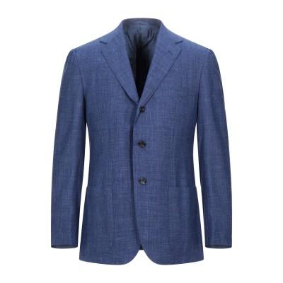 サルトリオ SARTORIO テーラードジャケット ブルー 50 バージンウール 71% / シルク 15% / リネン 14% テーラードジャケット