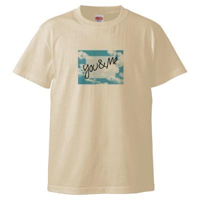 you&meTシャツ(デザインE)(カラー : ナチュラル, サイズ : XL)