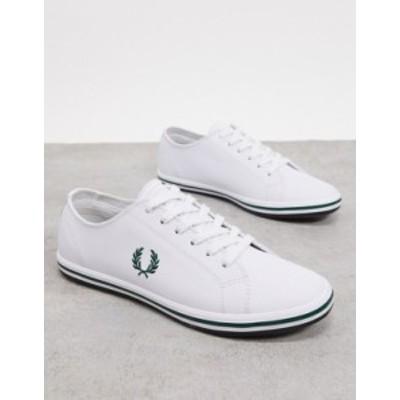 フレッドペリー メンズ スニーカー シューズ Fred Perry kingston sneakers in white White
