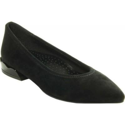 ヴァネリ VANELi レディース スリッポン・フラット シューズ・靴 Sadira Pointed Toe Flat Black Suede