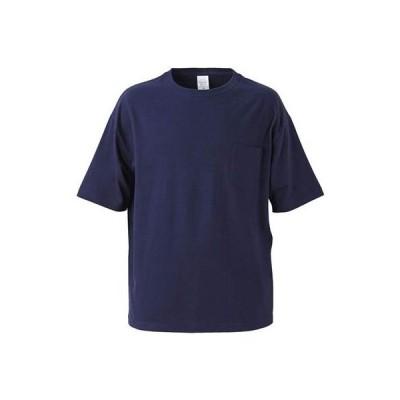 (ユナイテッドアスレ)UnitedAthle 5.6オンス ビッグシルエット Tシャツ(ポケット付) 500801 086 ネイビー M