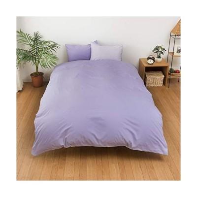 メリーナイト 日本製 綿100% 掛布団カバー 「フロム」 シングルロング ラベンダー FM625001-78