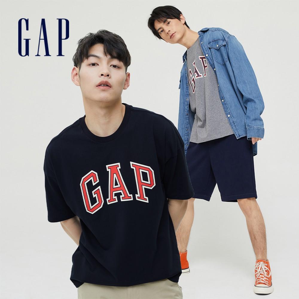 Gap 男女同款 Logo純棉圓領短袖T恤 688537 (多色可選)