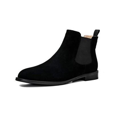 [ONEENO] レディース カジュアル スエード チェルシーブーツ US サイズ: 8 カラー: ブラック【並行輸入品】