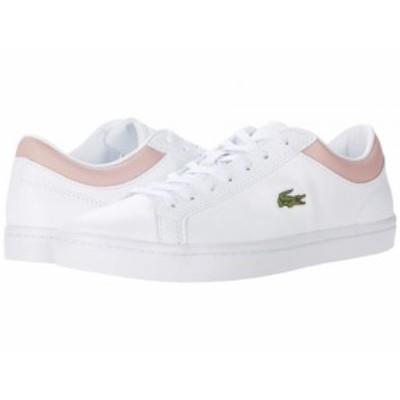 Lacoste ラコステ レディース 女性用 シューズ 靴 スニーカー 運動靴 Straightset 0120 1 White/Light Pink【送料無料】