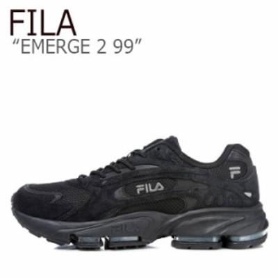フィラ スニーカー FILA メンズ レディース EMERGE 2 99 イマージ2 99 BLACK ブラック FS1HTB1014X シューズ