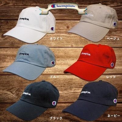 Champion チャンピオン ミニ刺繍ローキャップ 181-0136 メンズ レディース ベースボールキャップ 帽子 送料無料