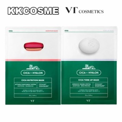 vt ブイティー シカ 栄養/トーン アップ マスク シート 1箱 6枚入り(1枚 28g)  マスクパック 韓国 コスメ 正規品
