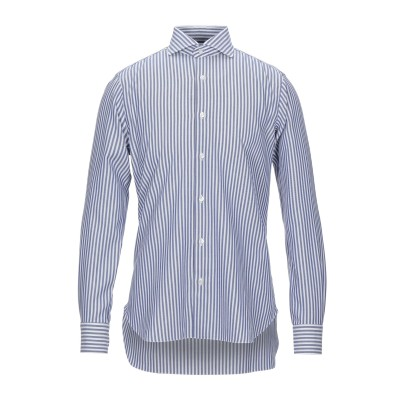 BARBA Napoli シャツ ブルー 40 コットン 100% シャツ