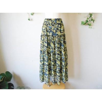 マイストラーダ Mystrada シースルー フラワー プリント の 可愛い ロング スカート 2