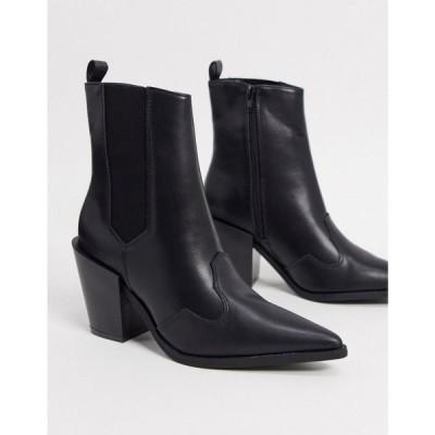 トリュフコレクション Truffle Collection レディース ブーツ ウェスタンブーツ シューズ・靴 western boots in black ブラック