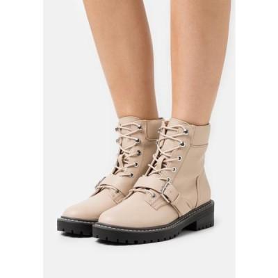 レディース 靴 シューズ ONLBOLD PADDED LACE UP BOOTIE - Lace-up ankle boots - beige