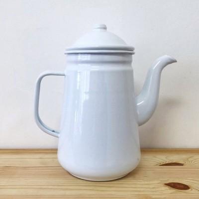 コーヒーポット ケトル おしゃれ 1.3L ホーロー 容器 食器 白 ホワイト 黒 ブラック 琺瑯 キッチン雑貨 北欧