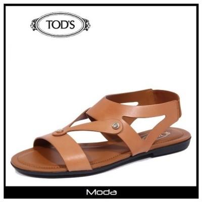 トッズ サンダル レディース TOD'S 靴 ブランド バックロゴ フラット ストラップ