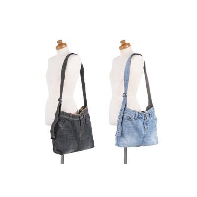 1点もの!人気のブランドジーンズ(新品未使用)をバッグにリメイクした「ショルダーバッグとポーチ」セット 送料無料 ポイント消化