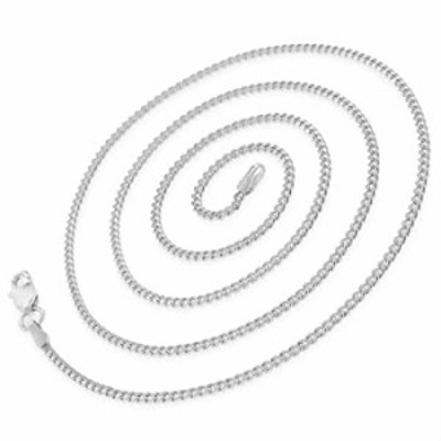 925 Italian Sterling Silver 2mm Miami Cuban, FREE Microfiber Cloth, ITProLux Solid Bombe Curb Link Chain Necklace, Giorgio Berga