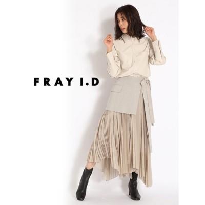 FRAY I.D  フレイアイディー ラッププリーツスカート  20秋冬 FWFS204066 フレアスカート カタログ掲載