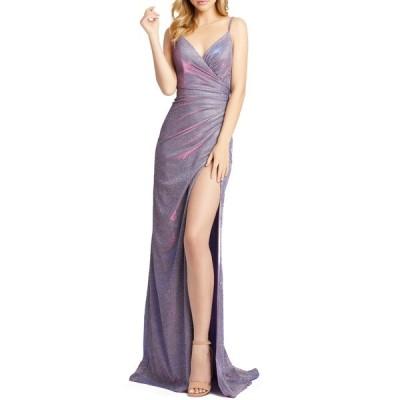 マックダガル ワンピース トップス レディース Shimmer Jersey Column Gown Lavender Twinkle