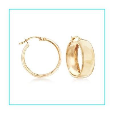 Ross-Simons 18kt Yellow Gold Over Sterling Silver Hoop Earrings【並行輸入品】