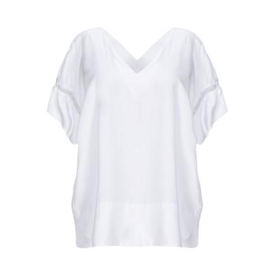 CALIBAN 820 ブラウス ホワイト 38 指定外繊維(テンセル)® 100% ブラウス