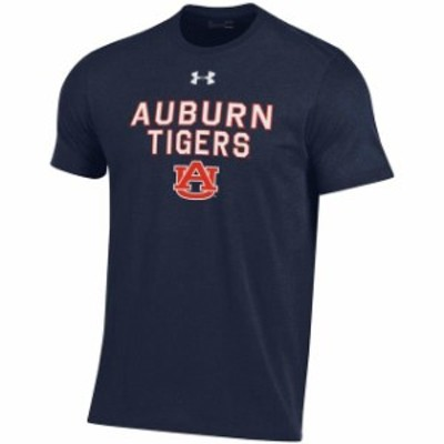 Under Armour アンダー アーマー スポーツ用品  Under Armour Auburn Tigers Youth Navy Performance Cotton T-Shirt