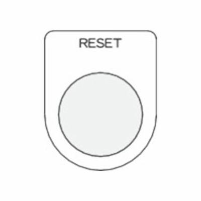 IM 押ボタン/セレクトスイッチ(メガネ銘板) RESET 黒 φ30.5 P30-37