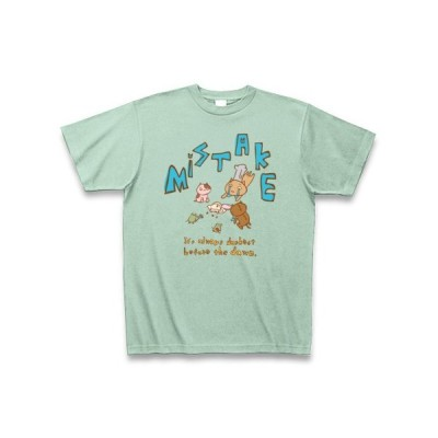 ミステイク *ネコパティシエ* Tシャツ Pure Color Print(アイスグリーン)