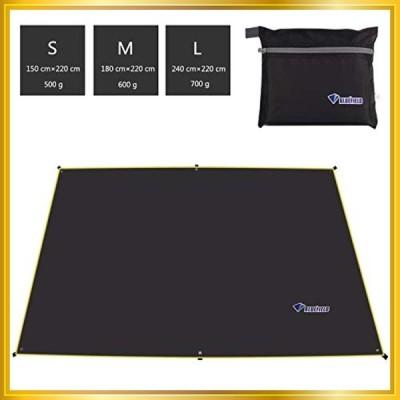 テントシート 折畳みクッショングランドシート タープ 軽量 防水 遮光日除け加工 紫外線カット 46人に適用 収