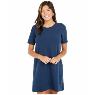 リラピー ワンピース トップス レディース Short Sleeve A-Line Dress in Brushed Terry Lake