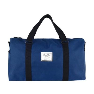 [BayRoot] ボストンバッグ トラベルバッグ 旅行バッグ 旅行かばん 大容量 軽量 撥水 キャリーオン 修学旅行 アウトドア 紺 ( ネイビー )