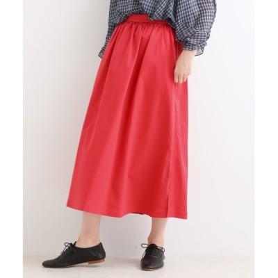 【ニーム/NIMES】 マイクロピーチストレッチツイル ギャザースカート