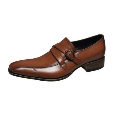 キャサリンハムネット メンズシューズ 31591ブラウン KATHARINE HAMNETT スワールモカスリッポン折り返しベルト付き紳士靴