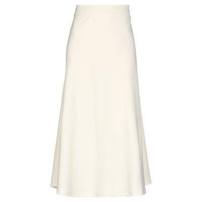 SCEE by TWINSET 7分丈スカート アイボリー XL 78% ポリエステル 18% レーヨン 4% ポリウレタン 7分丈スカート