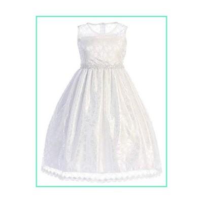 White Big Girls Lace Flower Girl First Communion Pageant Wedding Birthday Dress SP161 Size 10並行輸入品