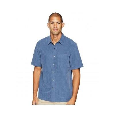 Royal Robbins ロイヤルロビンズ メンズ 男性用 ファッション ボタンシャツ Desert Pucker S/S - Collins Blue 2