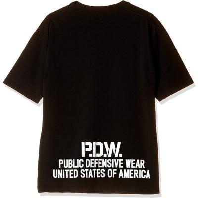 アヴィレックス Tシャツ PWD DROPSHOULDER POCKET TEE 6603011 メンズ 09 BLACK 日本 XL (日